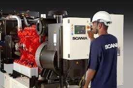 Gerador a diesel industrial